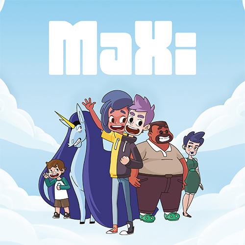 La famille de MaXi devant un ciel bleu